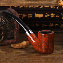 Smoking Pipes,Smoking Set Smoking wood Pipe Handmade Tobacco Pipe Filter Wooden Pipe great gift for friends