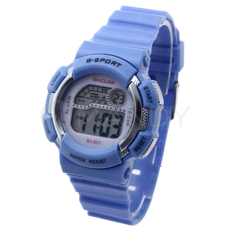 LED Light Digital Boys Children Sports Wrist Watch Week Alarm Chronograph Blue<br><br>Aliexpress