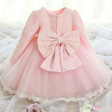 princess baby girls winter dress children autumn clothes long sleeve baby tutu Baptism dress1 year girl baby birthday dresses(China (Mainland))