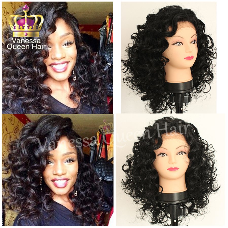Short Big Curly Heat Resistant Synthetic Lace Front Wig Glueless Lace Wig Kinky Curl Wig For Black Women Free Shipping<br><br>Aliexpress