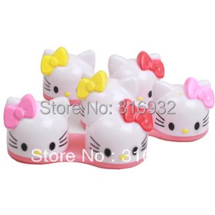 6pcs/lot Hello Kitty 3D Contact Lens Case, Cartoon Glasses box wholesale