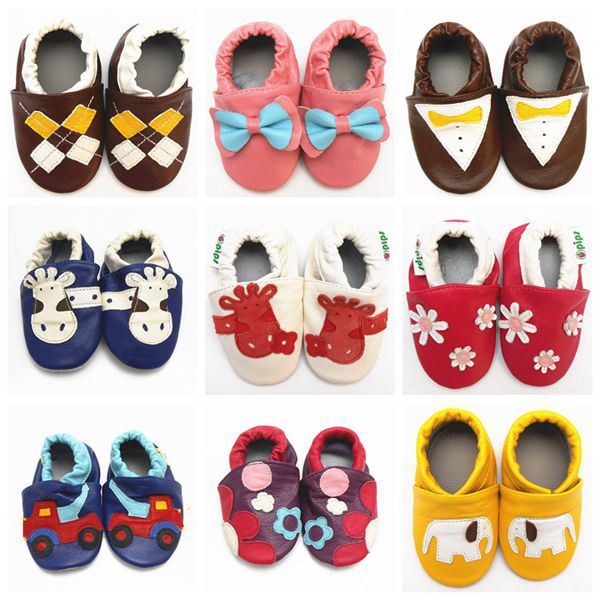 2015 Fashion Cow Leather Baby Moccasins Soft Soled Toddlers Baby Boy Shoes Girl Newborn Baby Shoes First Walkers Free Shipping(China (Mainland))