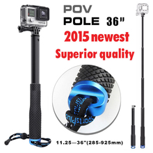 2016 36'' Gopro monopod SP POV pole Handheld gopro Monopod tripod for sj4000 go pro HERO4 HERO3 3 sj 4000 6000 camera Accessorie(China (Mainland))