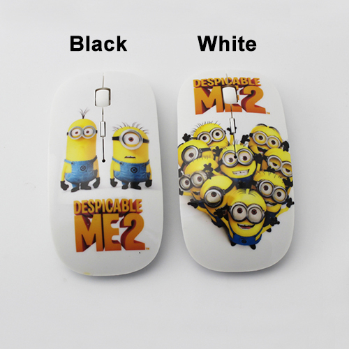 2016 Hot Mice Despicable Me Computer Mouse Cartoon Minions Mouse Gamer Wireless for Laptop Free Shipping(China (Mainland))