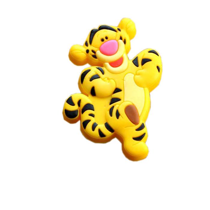 Cute Tiger Soft Gum Knobs Pulls Drawer Dresser Cabinet Kid's Knobs Pulls cartoon Children room Furniture handles(China (Mainland))