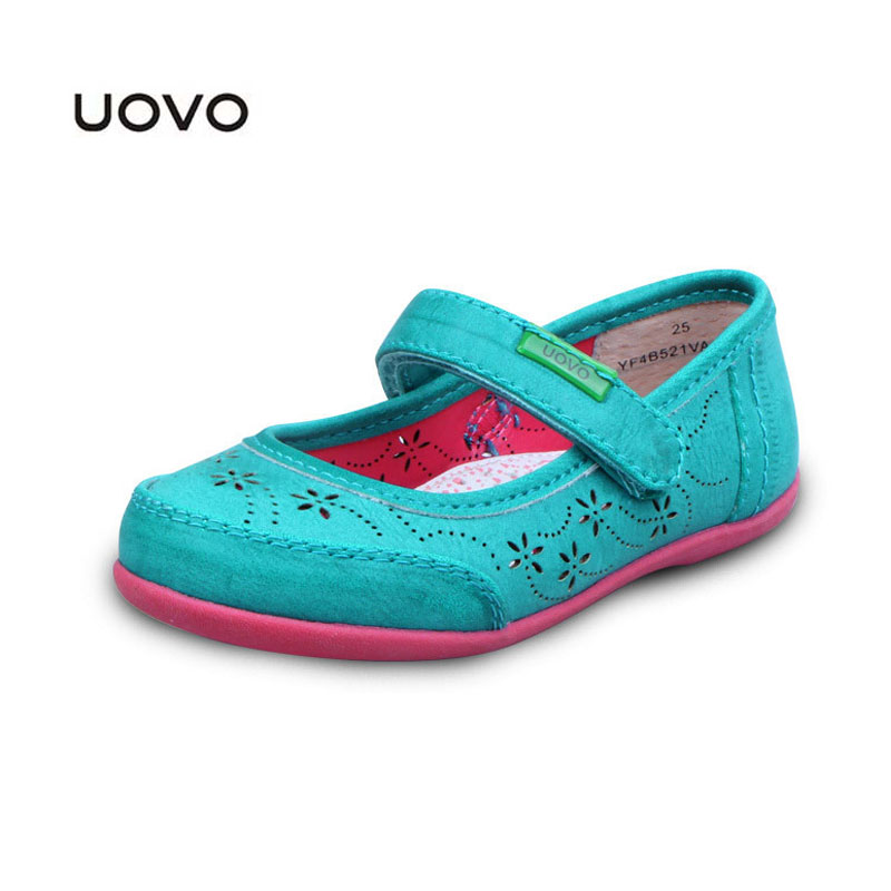 Kids Dress Shoes New UOVO Brand Designer Princess Shoes Hollowed Leather Spring Summer Baby Girls Sandals EU Size25-33 Sandals(China (Mainland))