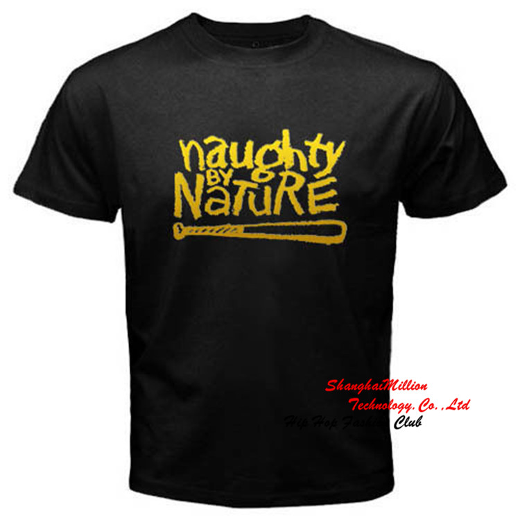 Gold Edition NAUGHTY BY NATURE RAP HIP HOP MUSIC LOGO T-SHIRT Cotton S - 2XL JSN037E(China (Mainland))