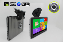2015 New 7 Inch Car GPS Navigation Android 4.4.2 MTK8127 WIFI/FM/Bluetooth/HD 1080P Car DVR  Recorder tablet PC 8G Flash(China (Mainland))