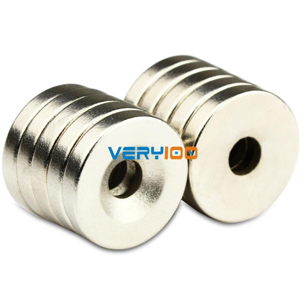 Гаджет  20PCS Super Strong Round Neodymium Countersunk Ring Magnets 15mm x 3mm Hole: 3mm Rare Earth N50 Free Shipping! None Строительство и Недвижимость