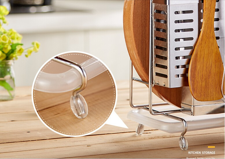 Buy Hot Sale High Grade Stainless Steel Kitchen Storage Drain Water Type Tableware Set Multifunction Knife Holder Free Shipping cheap