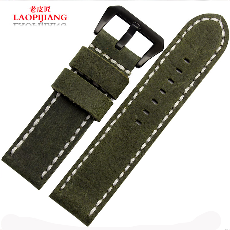 laopijiang Leather watch straps fit sterculia PAM 0011100441 vintage watches with male <br><br>Aliexpress