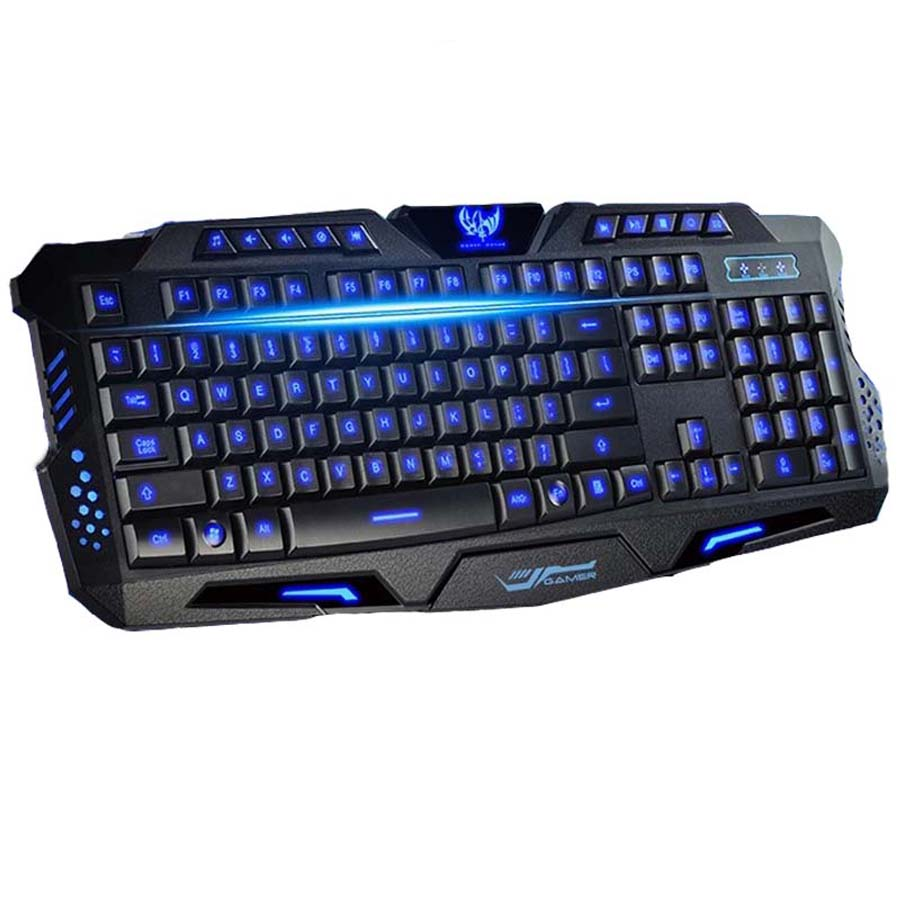 Best English Version Tri-color LED Backlight Flyingcolors Mechanical Touch Gaming Advanced Keyboard Game Keyboard for PC Laptop(China (Mainland))