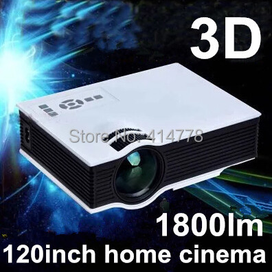 2015 Newest 1800lumens UC40 LED Mini Video 3D 1080P Portable Projector,Pefect For Home theater(China (Mainland))