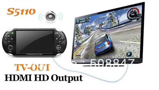 DHLNew JXD S5110 5 Inch Android 4.0 Game Player 4GB HDMI Touch Game Console TV Output Best Selling 5pcs/lot!