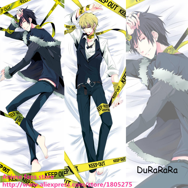 Hot Cool Japanese Anime Dakimakura DuRaRaRa!! DRRR Shizuo & Izaya Male decorative Hugging Body Pillow Case Coshion Cover Beeding