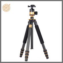 Qingzhuangshidai Q1000C углеродного волокна штатив профессиональной фотографии штатива кронштейн зеркальных камер микро