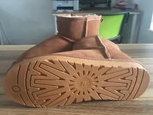 36-45 Térmica Botas de Nieve para Las Mujeres Zapatos de Nieve Clásico de Mujer de Marca Botas de piel de Vaca Cuero Genuino de la Vaca de Arranque Australia tiene Logo(China (Mainland))