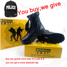 New 2015 Army Boots MAGNUM Brand Male Zipper Design Tactical Boots Delta SWAT Shoes For Men Black Military Boots Drop Shipping(China (Mainland))
