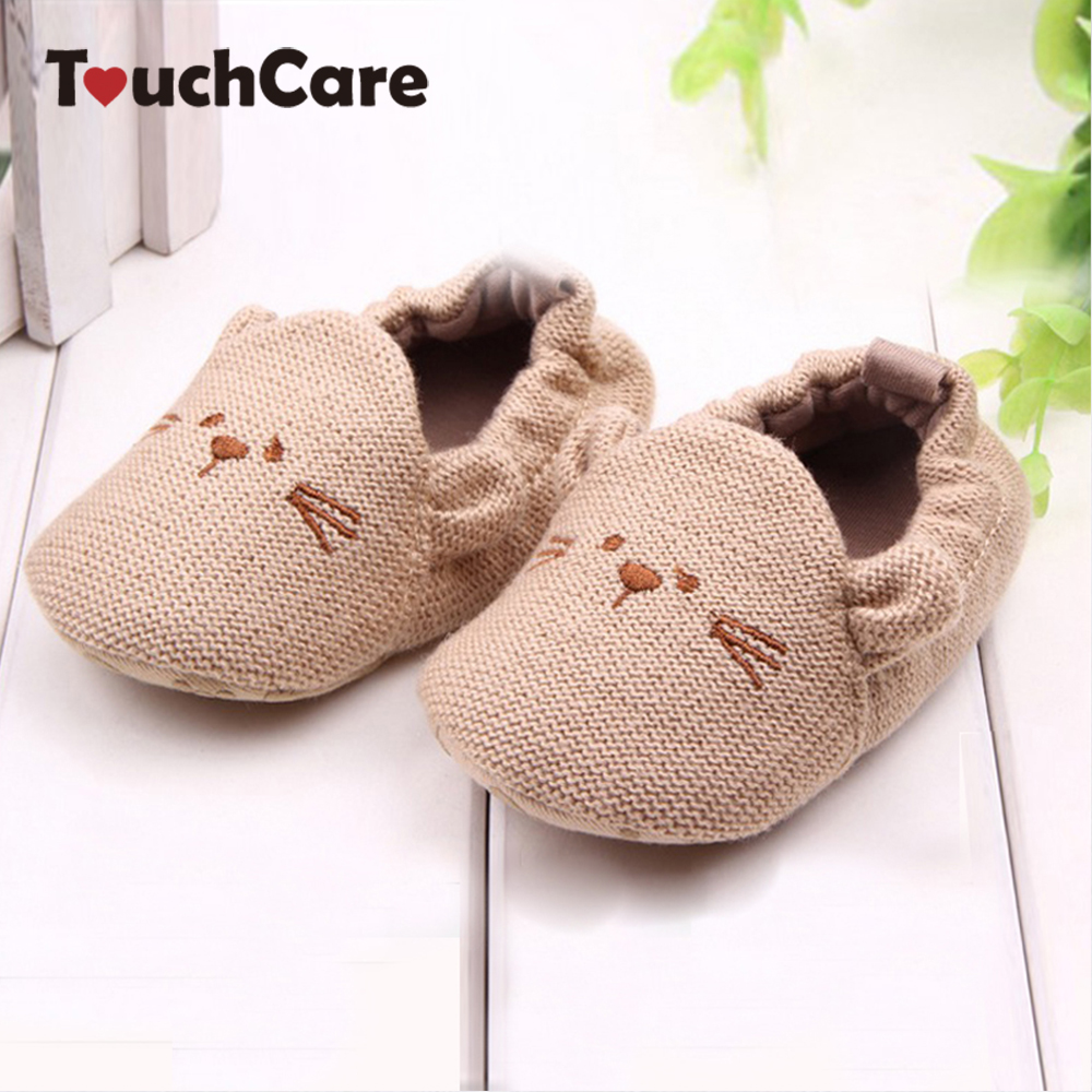 Lovely Baby Boy Girl Knitted Crib Shoes Infant Toddler Newborn Cartoon Elastic First Walkers Soft Slipper Crib Shoes(China (Mainland))