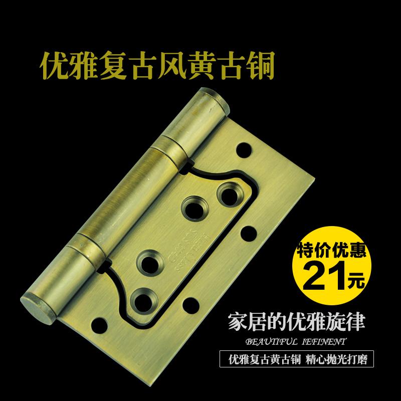 304 stainless steel hinge bearing mother yellow bronze mute Picture hinge door hinge ball bearing silent(China (Mainland))