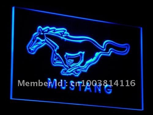 Гаджет  d054-b Ford Mustang Neon Light Sign None Дом и Сад