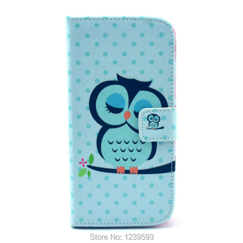 #1964 Hot Selling Sleepy Closing Eyes Owl Magnetic Flip PU Leather Cover Case For LG Google Nexus 5 One Piece Free Shipping(China (Mainland))