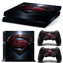 Superman Skin For Playstation PS4 Console Protection vinyl Cover Sticker For PS4 System Playstation 4 + 2 Controller Stickers