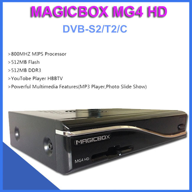 Azbox Satlink Satellite Receiver Magicbox Mg4 Hd Dvb-s2/t2/c Suipport Youtobe Player Hbbtv Smartcard Reader ,support 300m Wifi(China (Mainland))