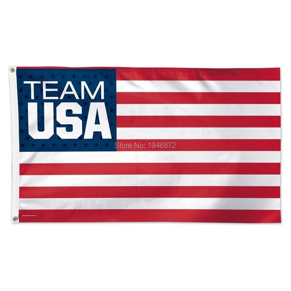 Olympic Team USA Soccer Official World Cup Soccer Deluxe Banner Flag 3' x 5' Custom Football Flag(China (Mainland))