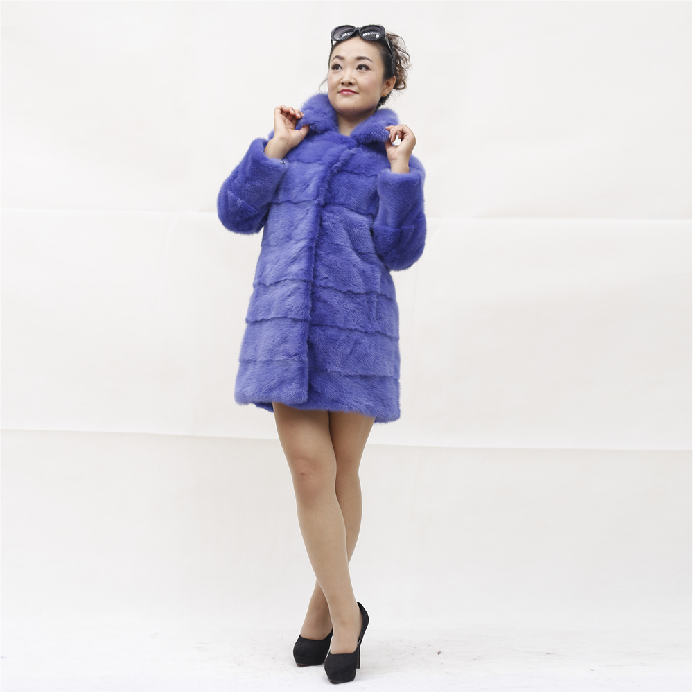 Winter Women Coats Turn-down Collar Genuine Mink Fur Coat Natural Fur Female Jackets Real Fur Jackets For Women Outerwear Coat(China (Mainland))