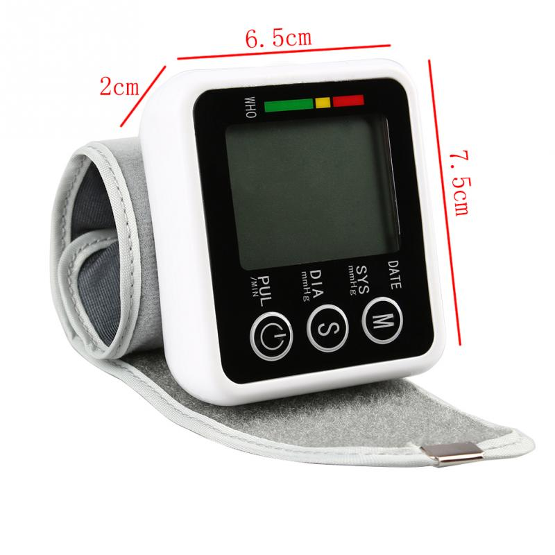 Memory Digital LCD Screen Wrist Blood Pressure Monitor Pulse Rate Test Measure(China (Mainland))
