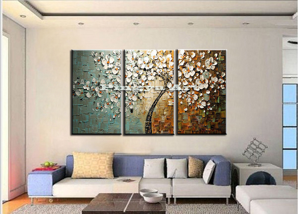 Buy 3 Panel Abstract Wall Art Cheap Modern Handmade