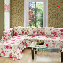 High grade home textile 100%cotton  Canvas fabric  Sofa cover  for two/thr