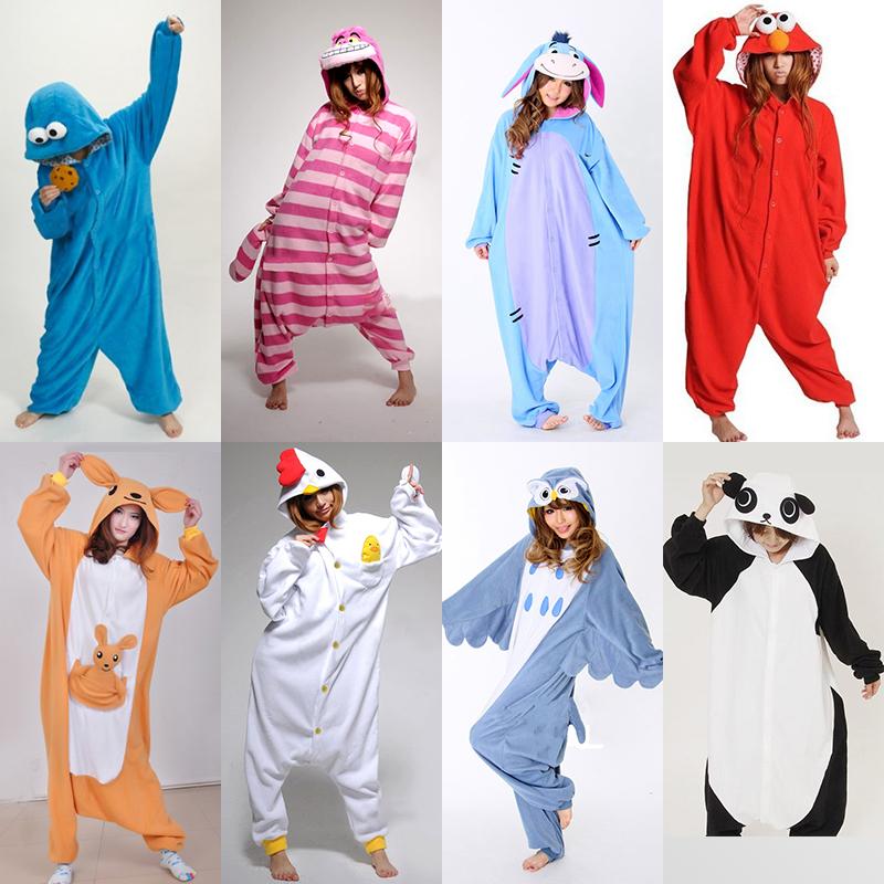 Japan Kigurumi Cosplay Adult Unisex Anime Animal Onesies Costume Pajamas Pyjamas For Women Sleepwear Jumpsuit Elmo Owl Cat CowОдежда и ак�е��уары<br><br><br>Aliexpress