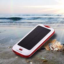 Poweradd New Style Solar Panel Dual-USB Waterproof Power Bank for iphone USB Portable Solar External battery for phone