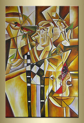 Happy Party Abstract hand painted oil painting bestbid_shop F712(China (Mainland))