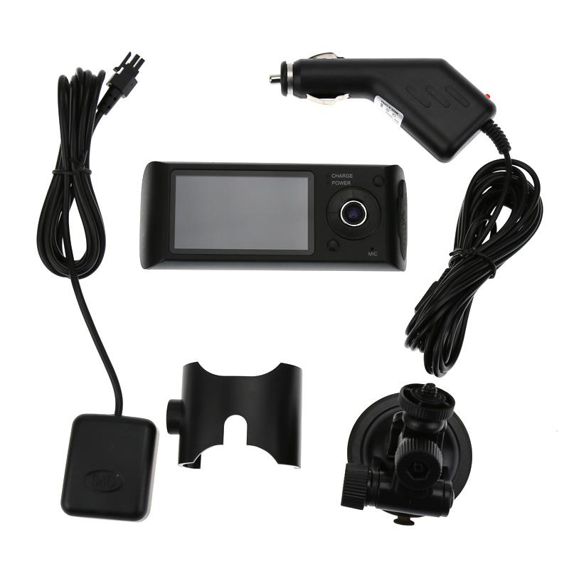 Dual Lens Car DVR X3000 R300 Dual G-Sensor Camcorder 140 Degree 2.7inch dash cam Car DVR Camera with GPS logger hot(China (Mainland))