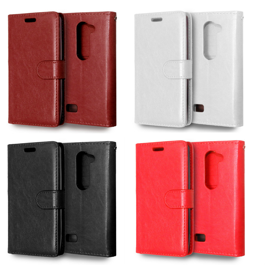 50% Off Top Quality Stand Card Holder Wallet Style Leather Book Case For LG Leon C40 4G LTE H340N H324 phone case back cover(China (Mainland))