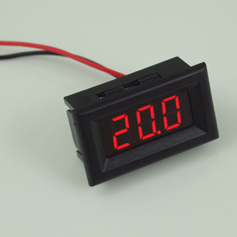 Mini Two Wires Digital Voltmeter Red LED Display DC2.5-30V Voltage Meter Voltage Detector with Reversal Protection(China (Mainland))