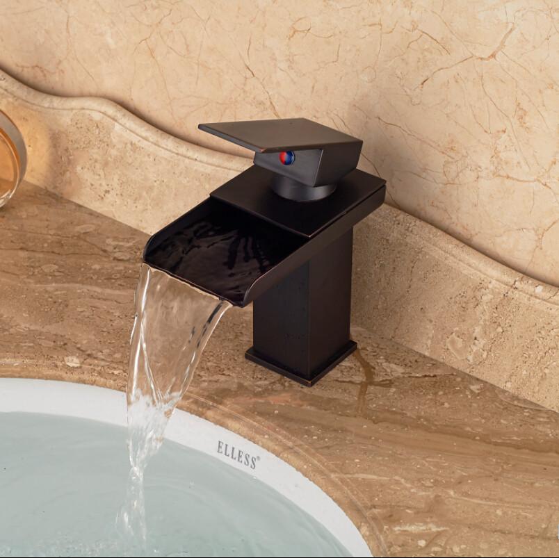 2019 Deck Mount Single Handle Mixer Water Tap Bathroom Waterfall