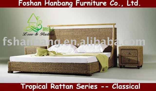 rattan bedroom furniture set