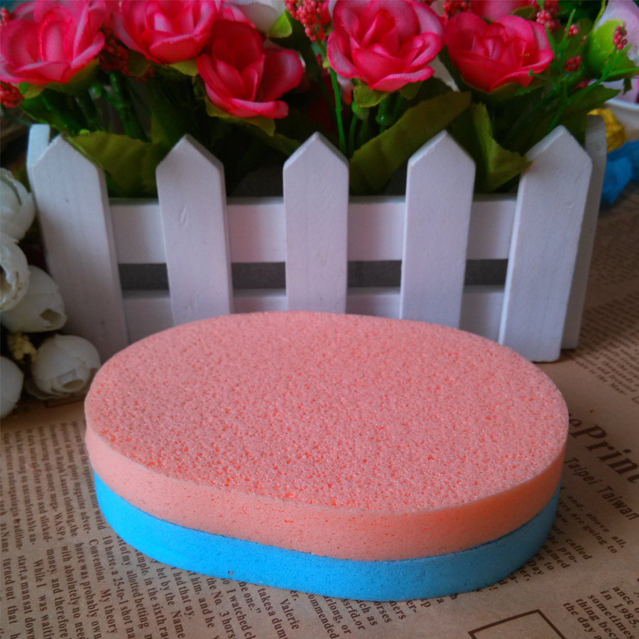 2pcs/bag Face Wash Sponge Puff Cleansing makeup tools Cleanser Soft Scrub Travel use Clean P8022 - Beauty Young store