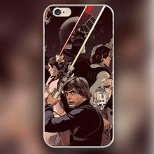 Duel of Fates Design transparent case cover cell mobile phone cases for Apple iphone 4 4s 5 5c 5s 6 6s 6plus hard shell