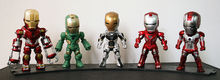 Buy Movie Figure 10 CM 5PCS/SET Iron Man MK 5 33 35 37 39 with Light PVC Action figure Collectible Model Toys Brinquedos for $38.99 in AliExpress store