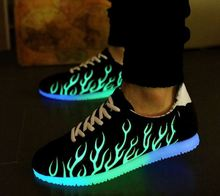 Spring and autumn new casual light up  for adults fluorescence trend  shoes(China (Mainland))