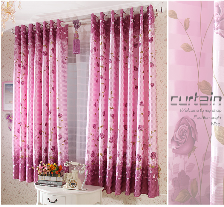 Buy The New Rose Pattern Curtain High Quality Curtains From Reliable Curtain