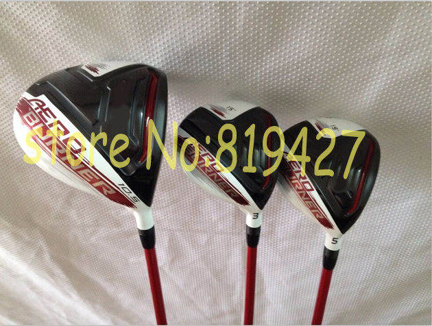 golf clubs Aeroburner driver 10.5 loft + Aeroburner fairway woods 3# 5# Regular flex 3pcs Aero woods free headcover(China (Mainland))
