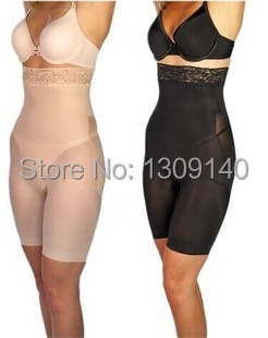 Black Nude Women Body font b Shaper b font Slimming Pants Waist Trainer Belly Fat Slim