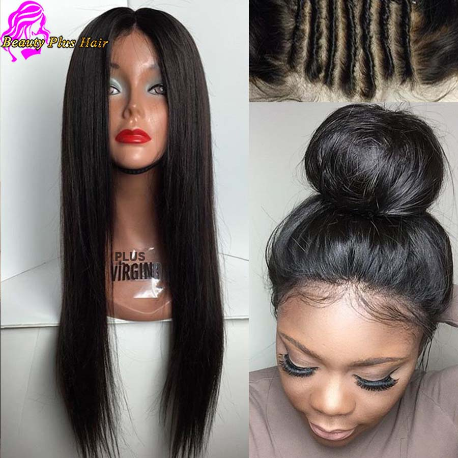Best Full Lace Human Hair Wigs For Black Women Glueless Full lace wigs Brazilian virgin hair Straight Human Hair Lace Front Wigs