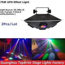 Buy 2XLot High 2017 New LED UFO Stage Effect Light 75W RGBWY Colors LED Stage Lighting DJ DMX Disco Laser Projector Lights for $314.88 in AliExpress store